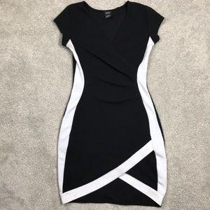 Rue21 Sm. Black Mini Short Sleeve Dress w/ White